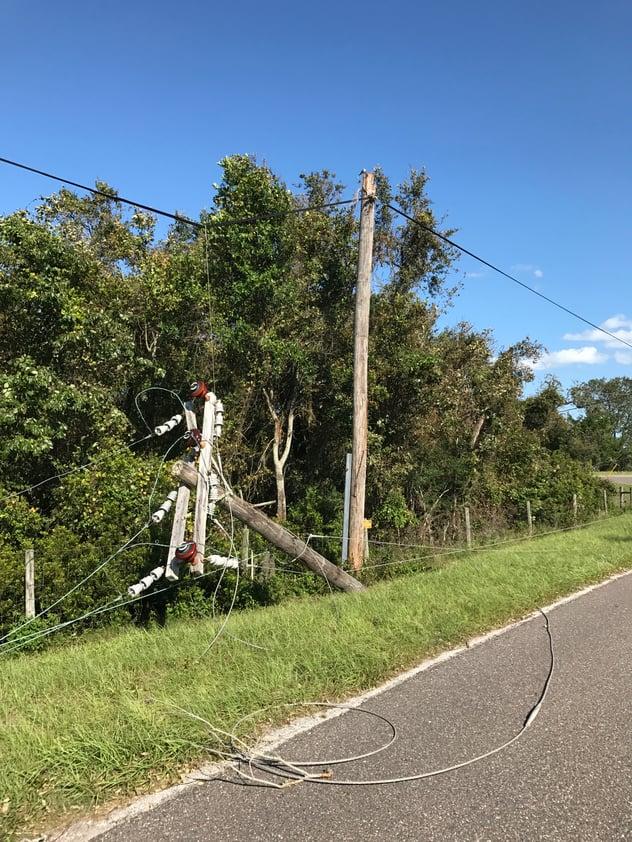 Hurricane Irma Downed Power lines